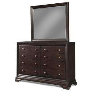 Cresent Fine Furniture Newport Dresser & Mirror Set