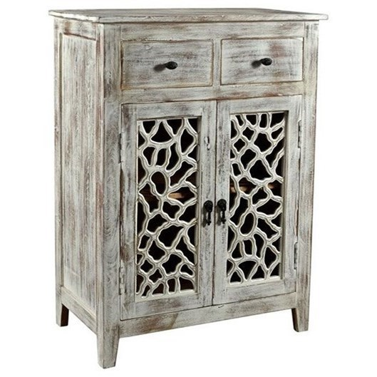 Accent Furniture Mango Wood 2 Drawer Cabinet by Crestview Collection at Rife's Home Furniture