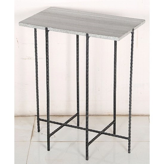 Accent Furniture Iron and Marble Accent Table by Crestview Collection at Rife's Home Furniture