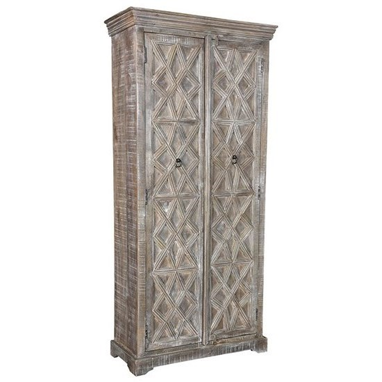 Accent Furniture Mango Wood Cabinet by Crestview Collection at Factory Direct Furniture