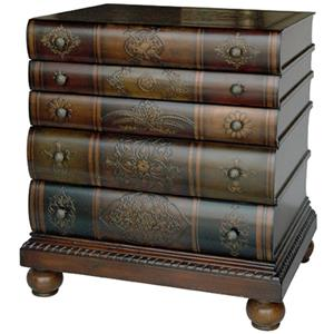 Library Book Inspired Chest with Three Drawers