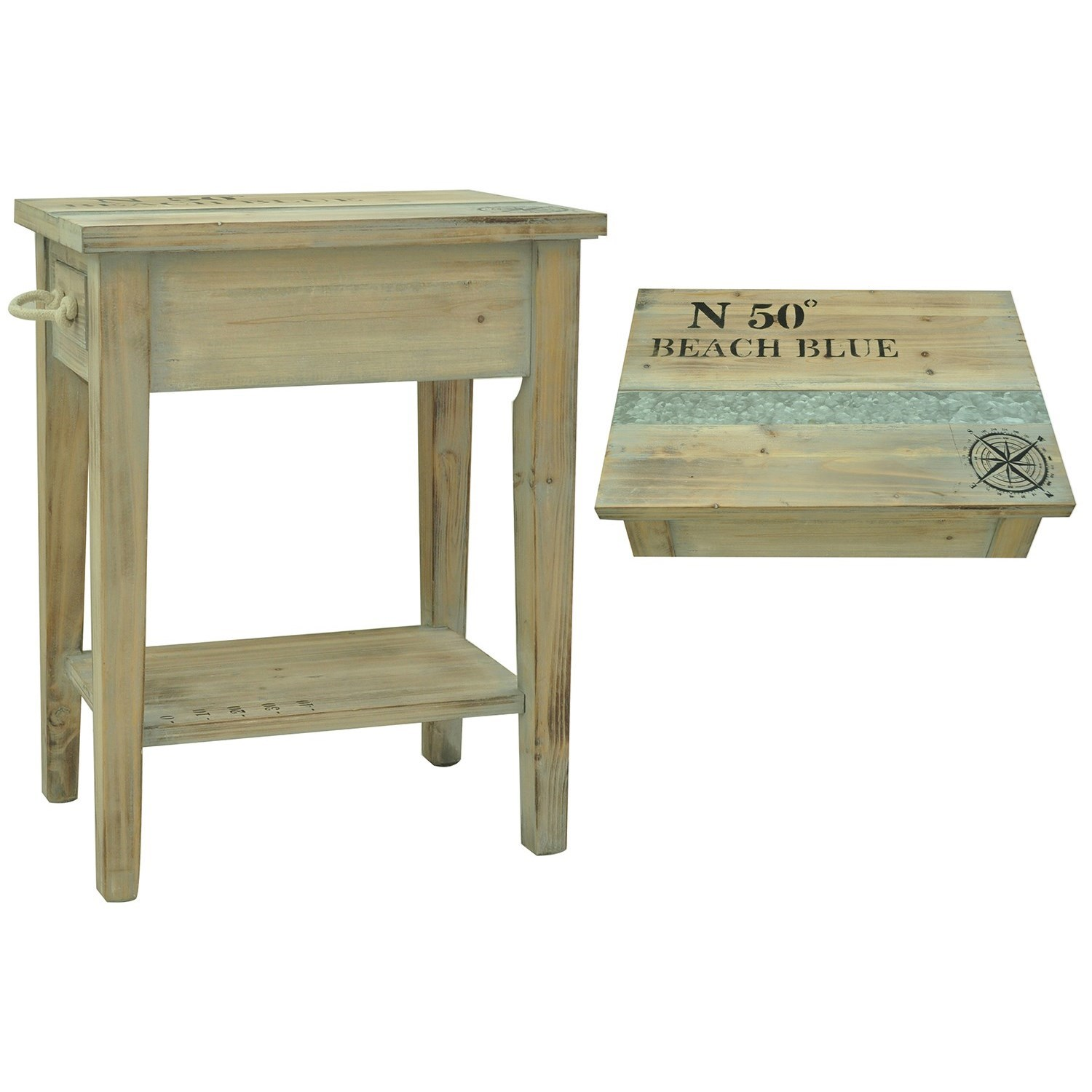 Accent Furniture Grand Isle Chairside Table by Crestview Collection at Suburban Furniture