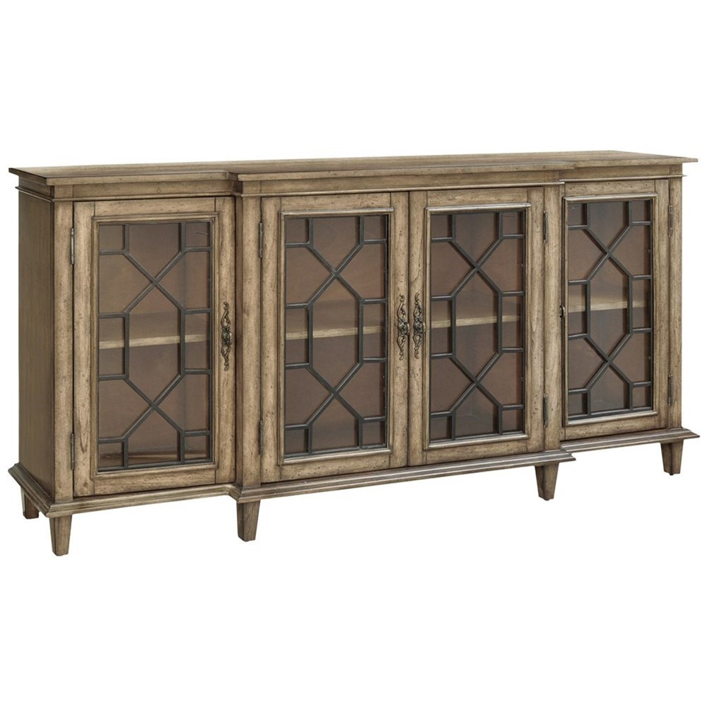 Accent Furniture Berkshire 4 Door Sideboard by Crestview Collection at Rife's Home Furniture