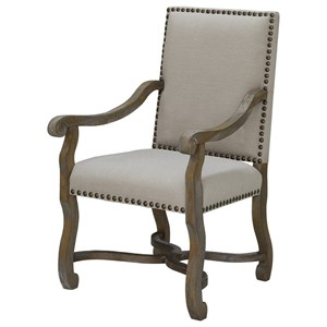 Crestview Collection Accent Furniture St. James Nailhead And Linen Chair
