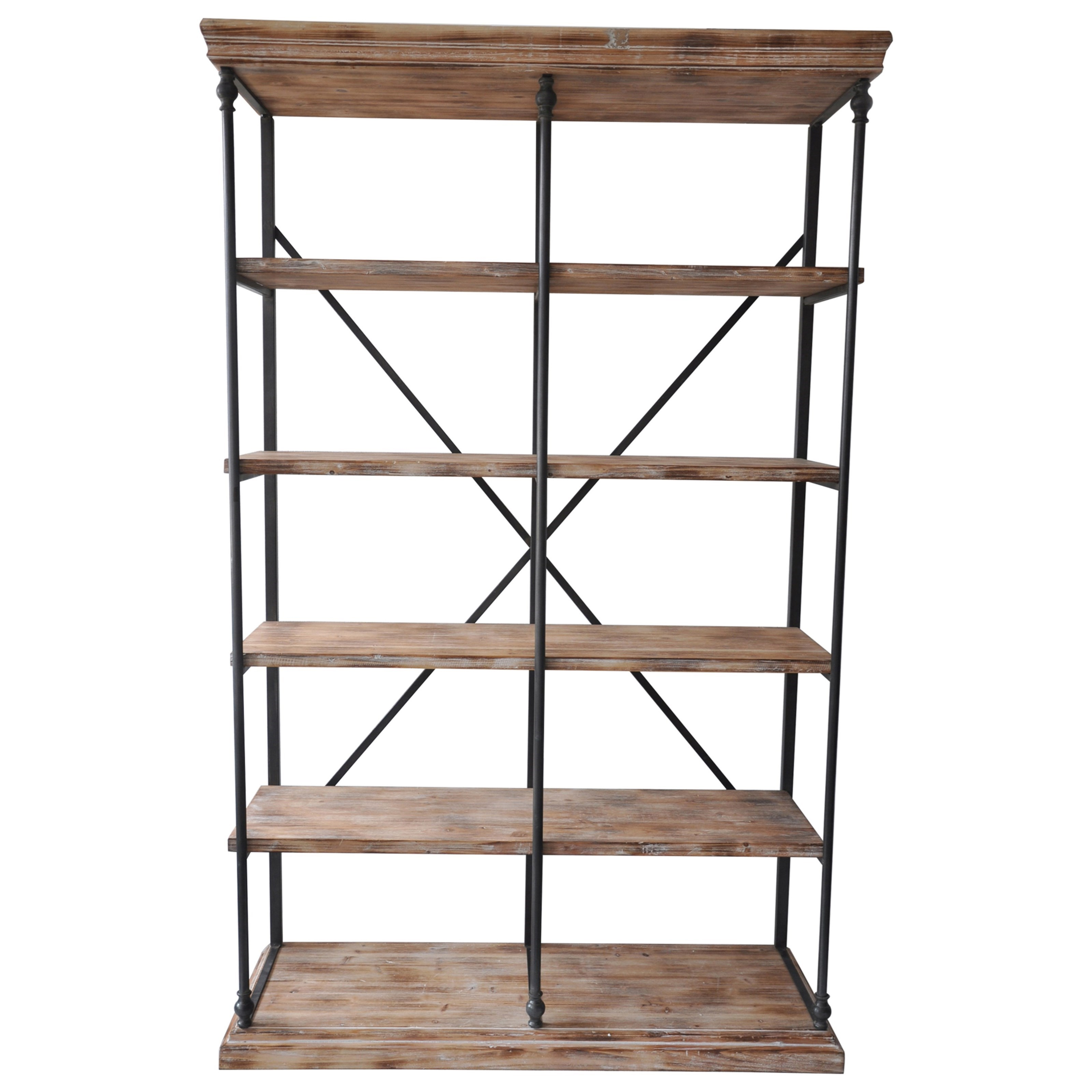 Accent Furniture La Salle Metal and Wood Bookshelf by Crestview Collection at Rife's Home Furniture