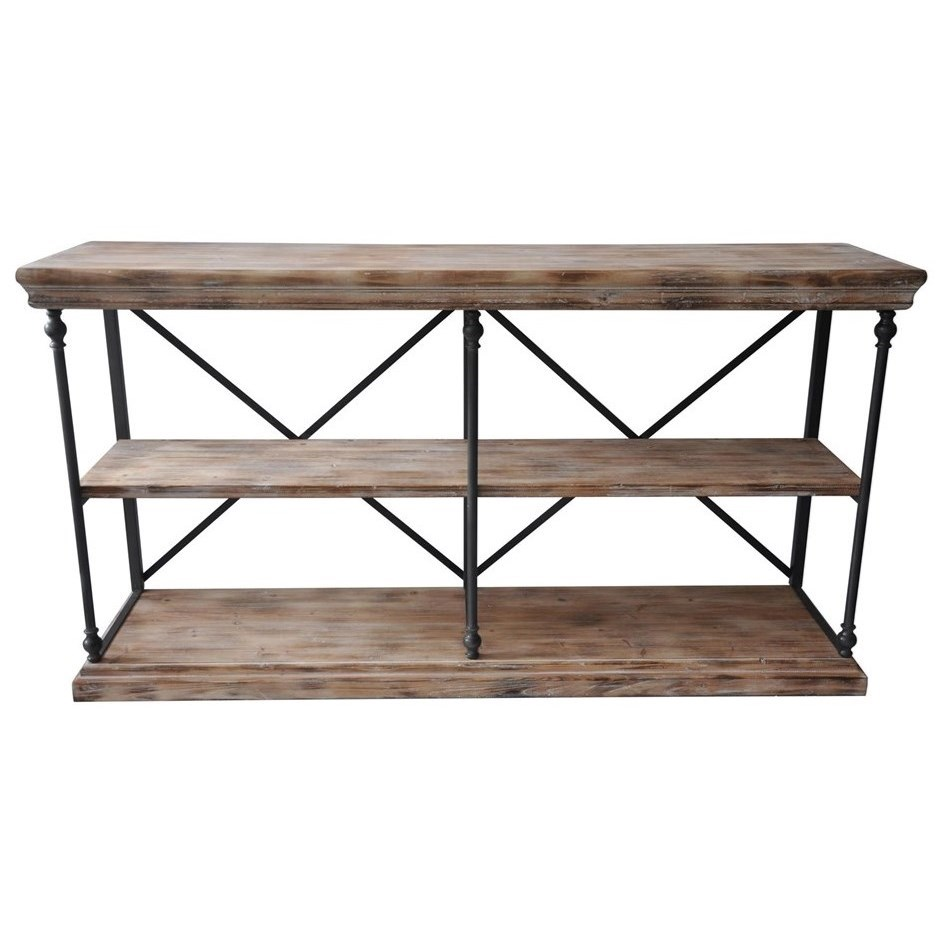 Accent Furniture La Salle Metal And Wood Console by Crestview Collection at Suburban Furniture