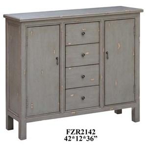 Richmond Textured Grey 4 Drawer / 2 Door Cabinet