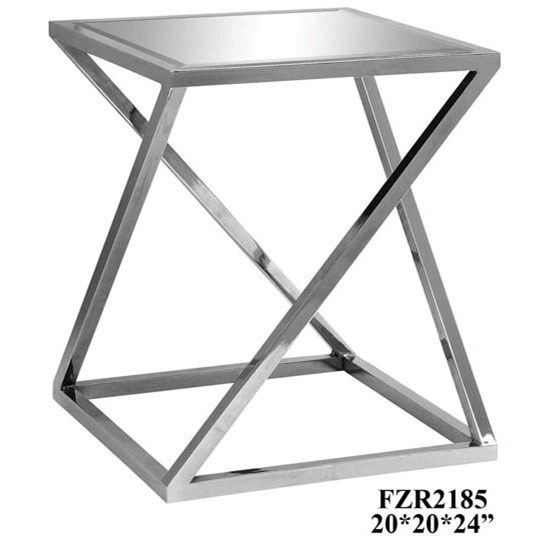 Accent Furniture Bentley Chrome Z Accent Table by Crestview Collection at Rife's Home Furniture