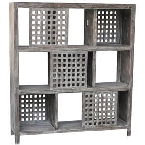 Rustic Wall Unit with Sliding Doors
