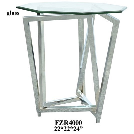 Accent Furniture Chrome Overlapping Legs Accent Table by Crestview Collection at Rife's Home Furniture