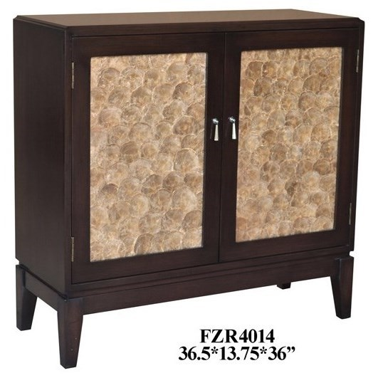 Accent Furniture 2 Door Capiz Shell Cabinet by Crestview Collection at Rife's Home Furniture