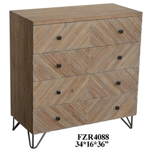 Accent Furniture Natural Wood Chest by Crestview Collection at Factory Direct Furniture