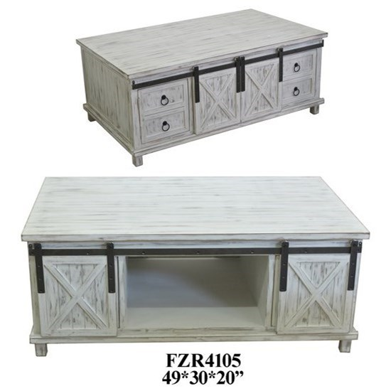 Accent Furniture Sliding Door Storage Console by Crestview Collection at Rife's Home Furniture
