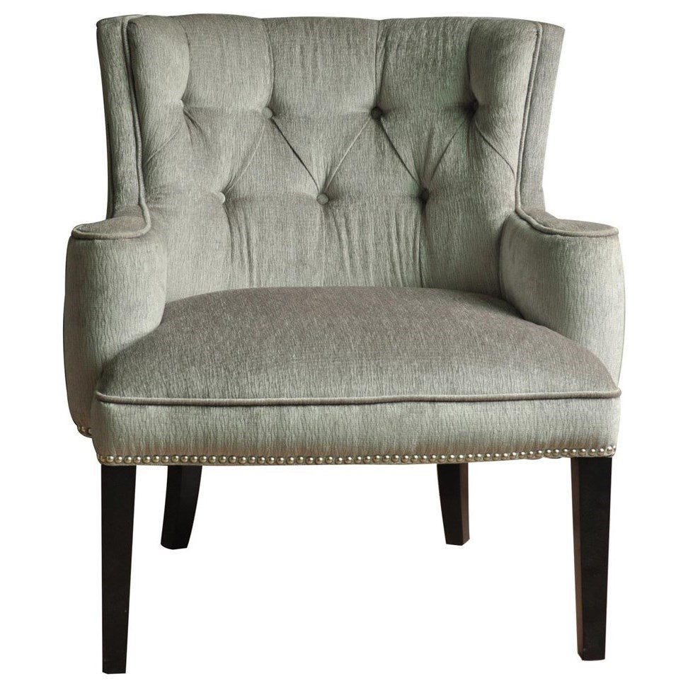 Accent Furniture Fifth Ave Textured Silver Nailhead Chair by Crestview Collection at Rife's Home Furniture
