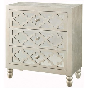 Newcastle 3 Drawer Silver Leaf Chest