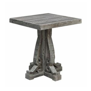 Grey Carved End Table