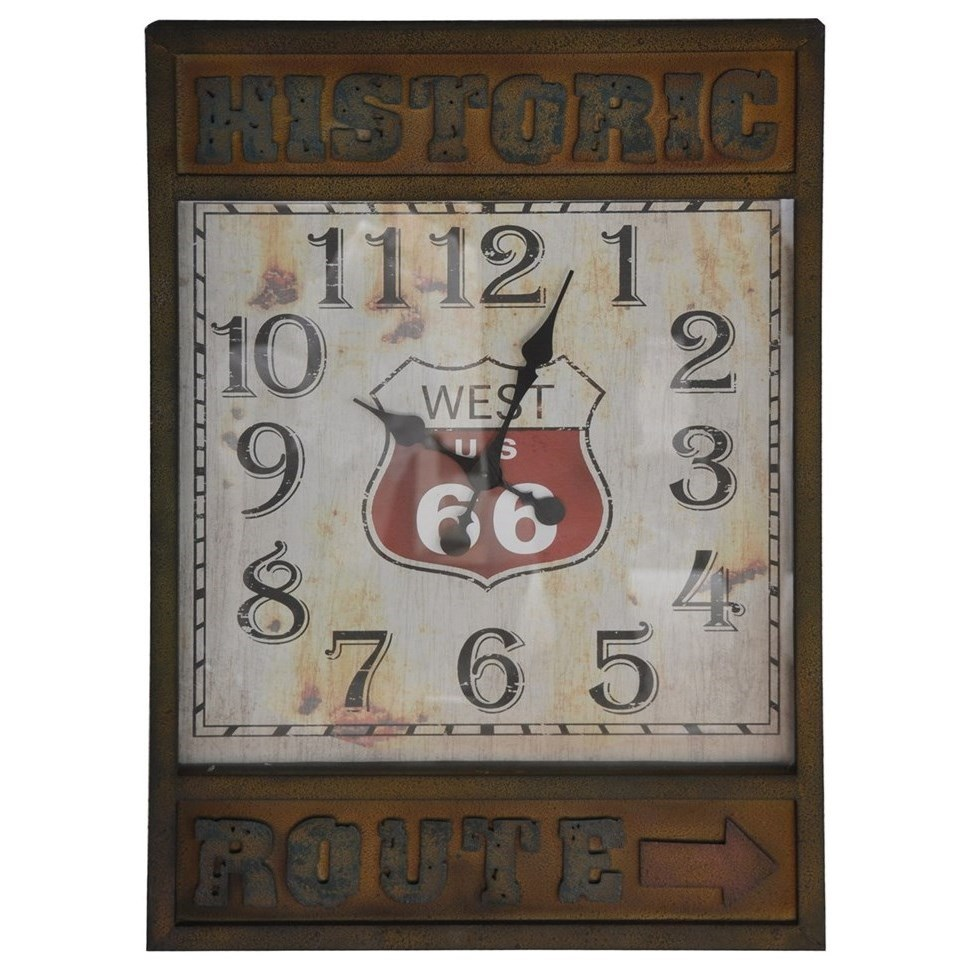 Clocks Route 66 Time by Crestview Collection at Rife's Home Furniture