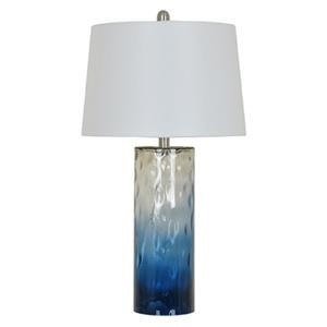 Blue Ombre Glass Lamp