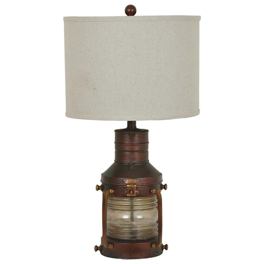 Lighting Copper Lantern Table Lamp by Crestview Collection at Suburban Furniture