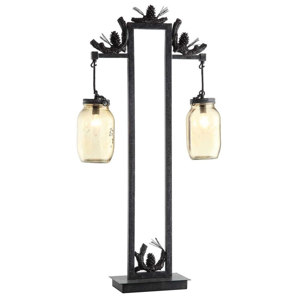Lighting Fire Catcher Table Lamp by Crestview Collection at Suburban Furniture