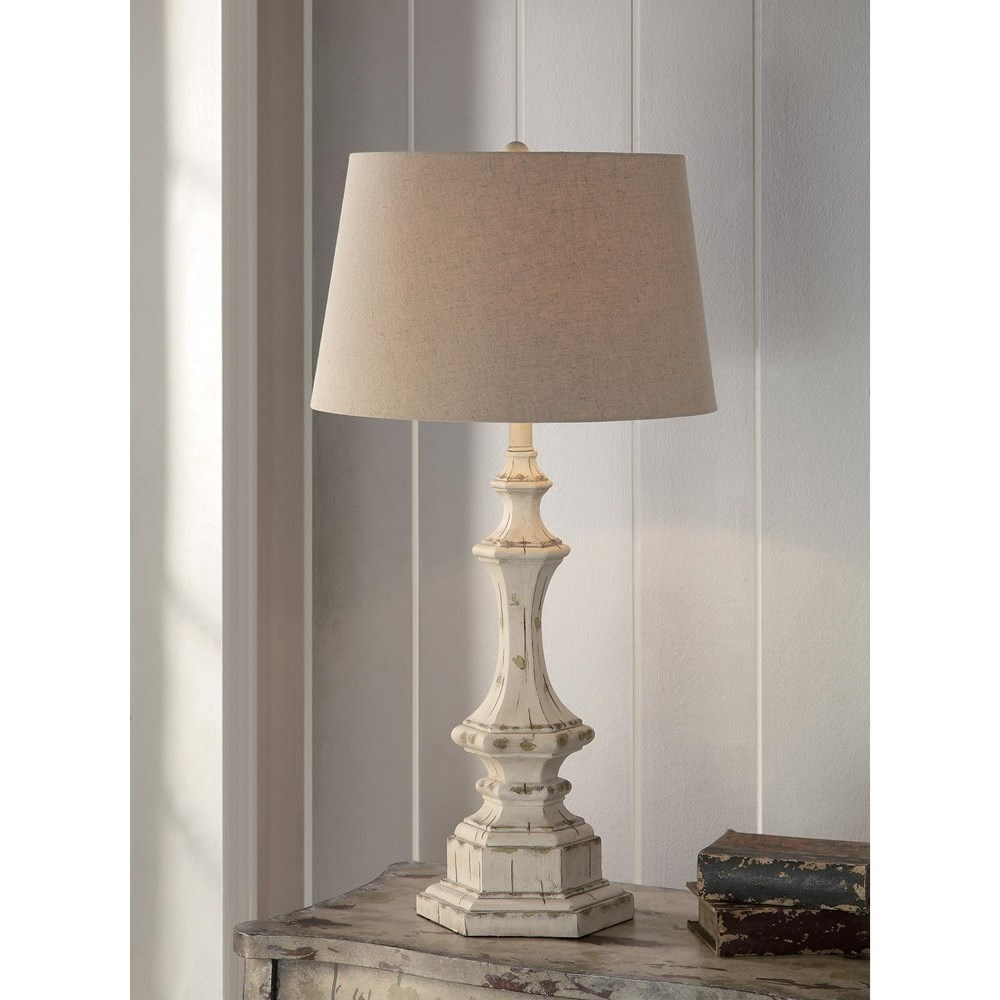 """Lighting Wooden Column Table Lamp 34""""Ht by Crestview Collection at Suburban Furniture"""