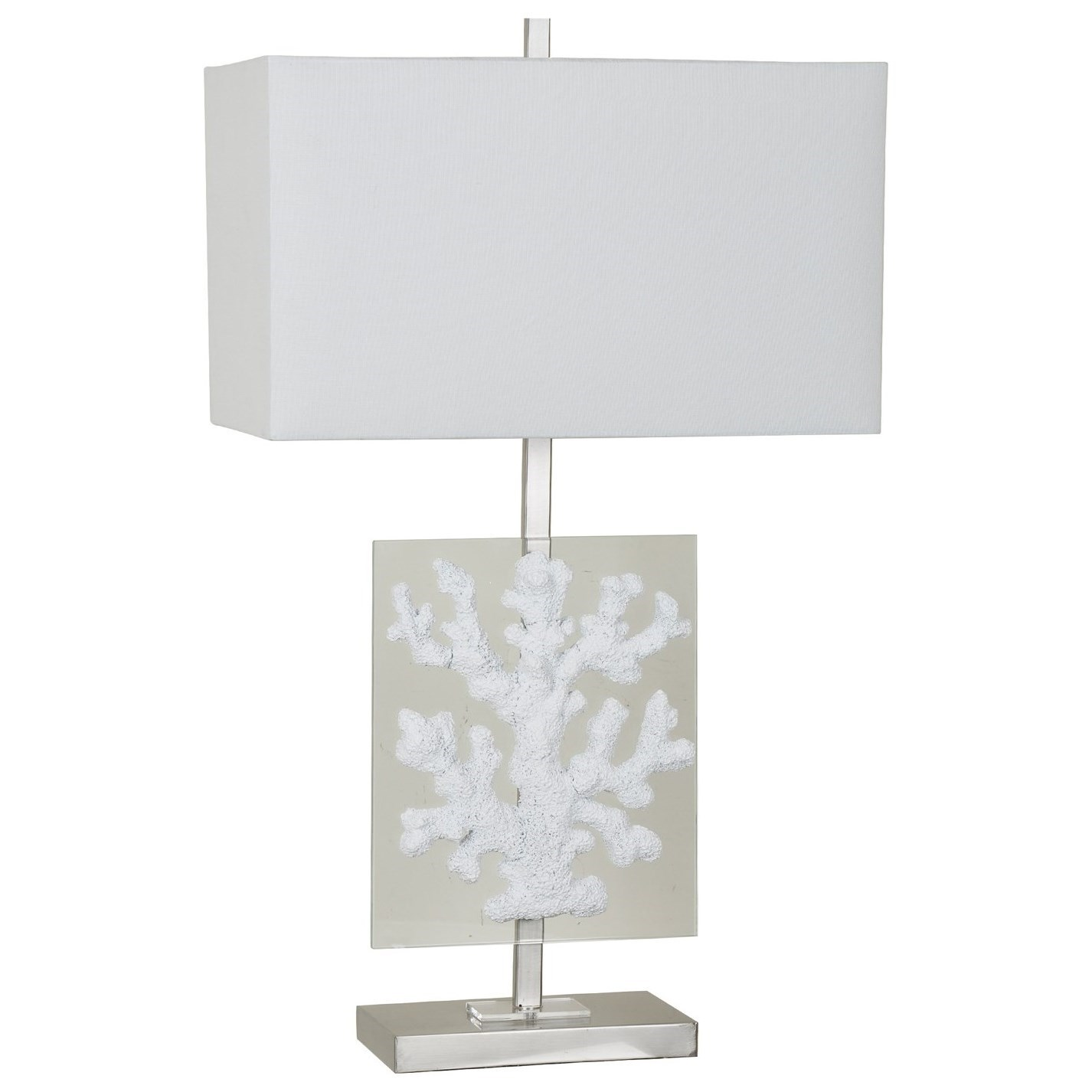 Lighting Coral Glass Table Lamp by Crestview Collection at Rife's Home Furniture