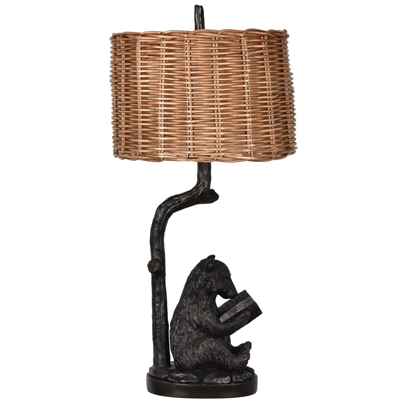 Lighting Bear Knowledge Table Lamp by Crestview Collection at Rife's Home Furniture