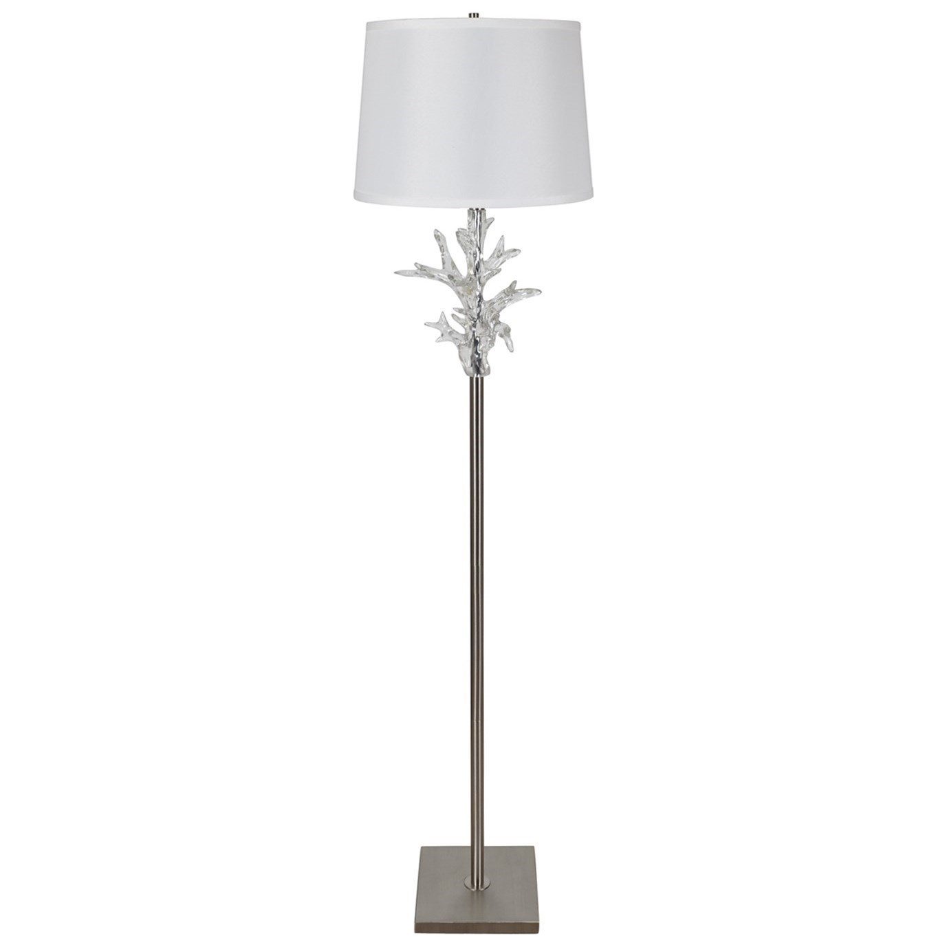 Lighting Crystal Coral Floor Lamp by Crestview Collection at Rife's Home Furniture
