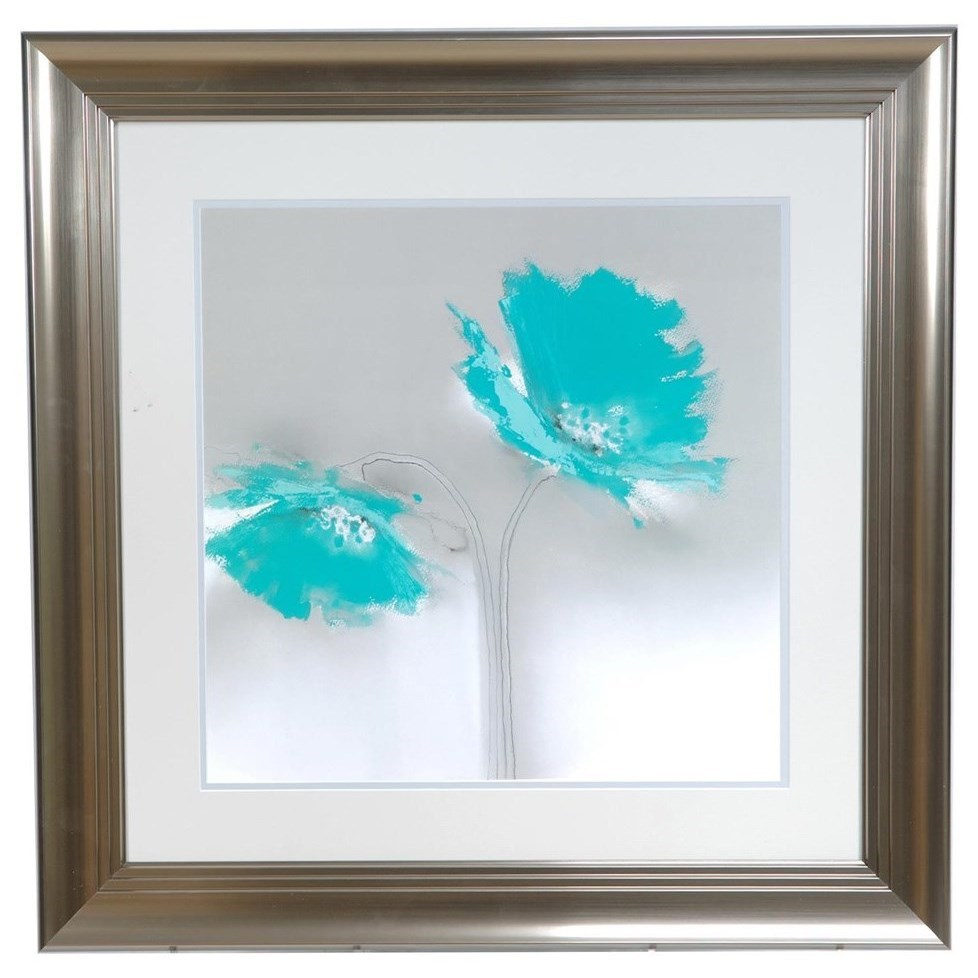 Prints and Paintings Aqua Petals 2 by Crestview Collection at Rife's Home Furniture