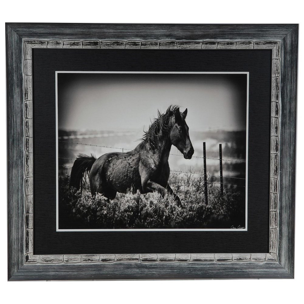 Prints and Paintings Running Horse by Crestview Collection at Rife's Home Furniture