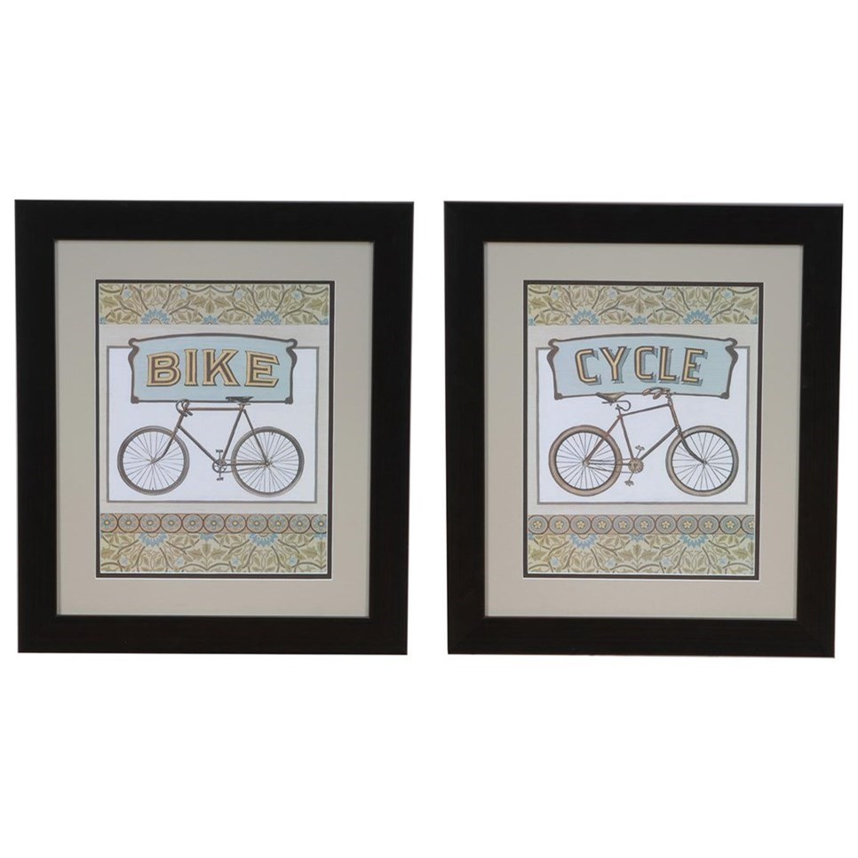 Prints and Paintings Cycle & Bike Set 2 by Crestview Collection at Rife's Home Furniture