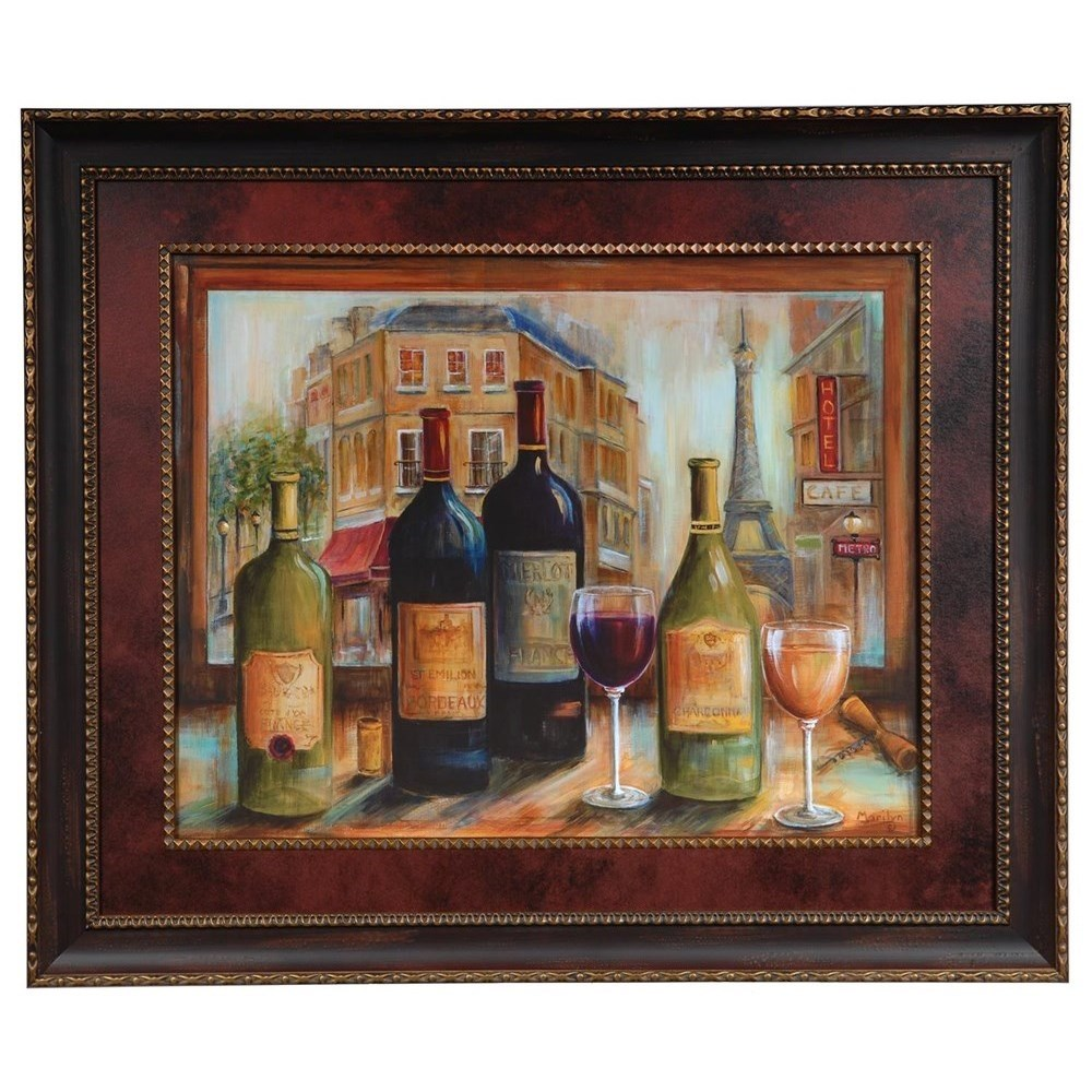 Prints and Paintings Bistro De Paris by Crestview Collection at Rife's Home Furniture