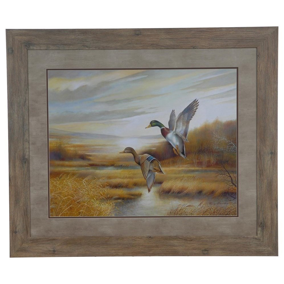 Prints and Paintings Mallards by Crestview Collection at Rife's Home Furniture