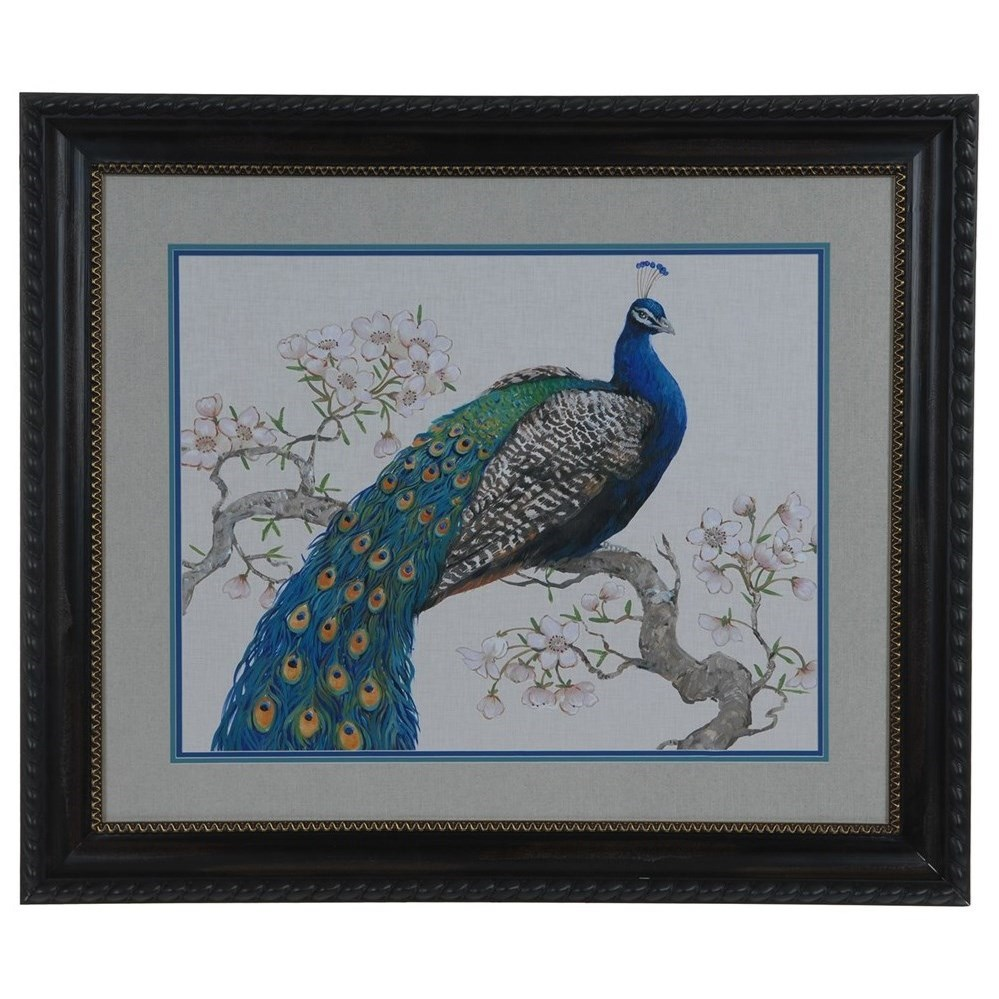 Prints and Paintings Peacock Blossoms 1 by Crestview Collection at Rife's Home Furniture