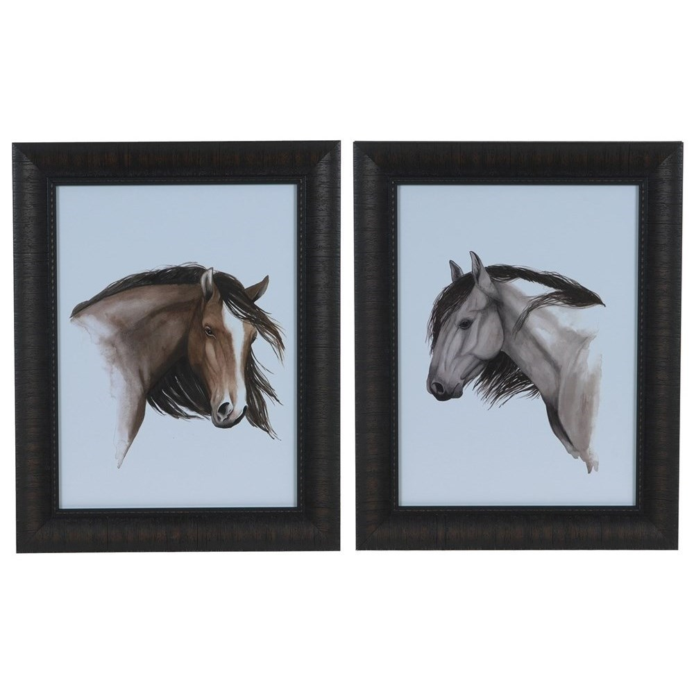 Prints and Paintings Wild Horse 1&2 (Set) by Crestview Collection at Rife's Home Furniture