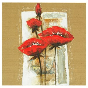 Burlap Floral 1