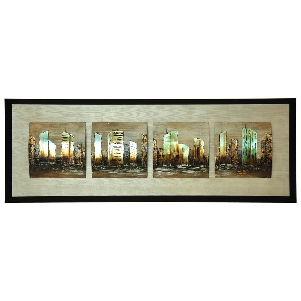 Prints and Paintings City Divide by Crestview Collection at Suburban Furniture
