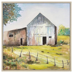 Harvest Time Framed Hand Painted Canvas