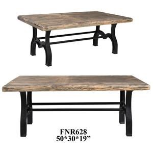 Bengal Manor Recycled and Iron Rectangle  Cocktail Table