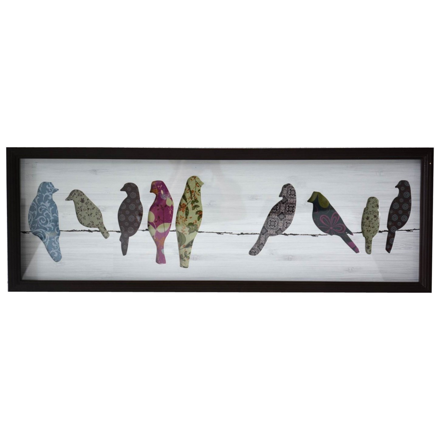 Wall Décor Shadow Box with Wooden Elements by Crestview Collection at Rife's Home Furniture