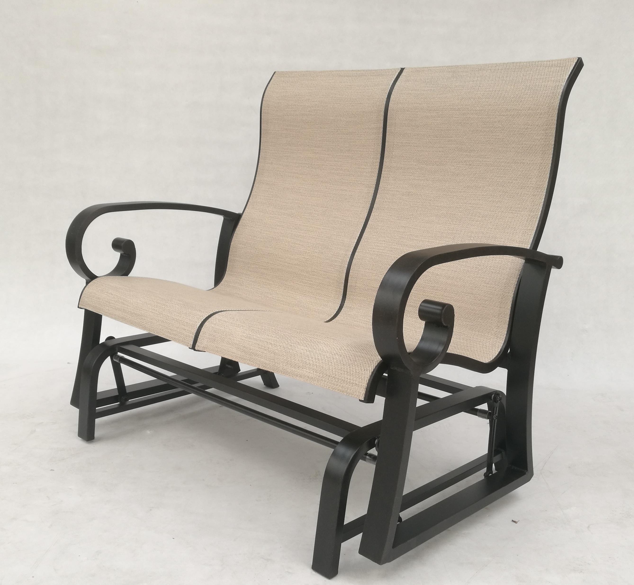 Crown Garden Loveseat Glider by Crown Garden Furniture at Johnny Janosik