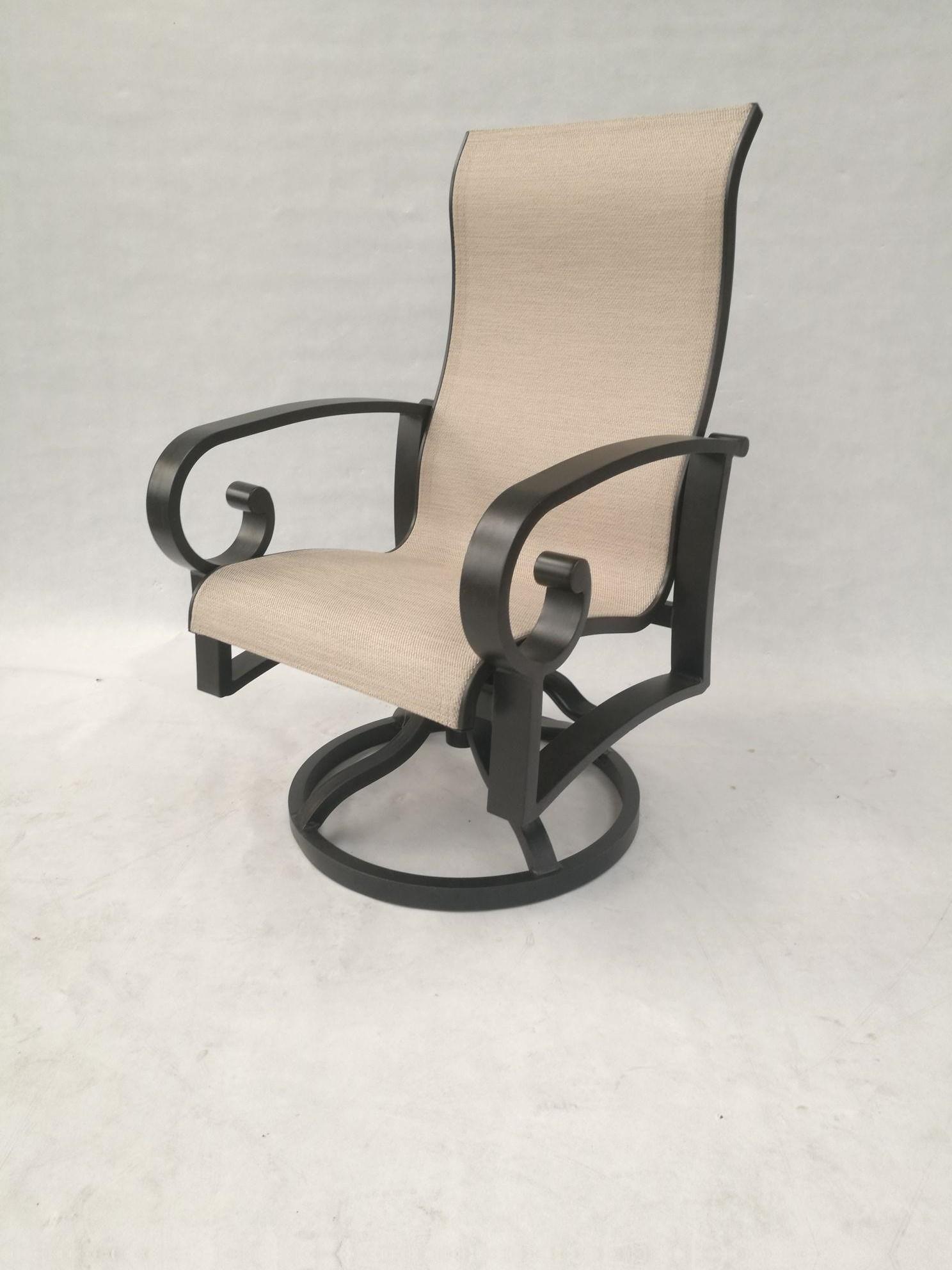 Crown Garden Sling Swivel Chair by Crown Garden Furniture at Johnny Janosik