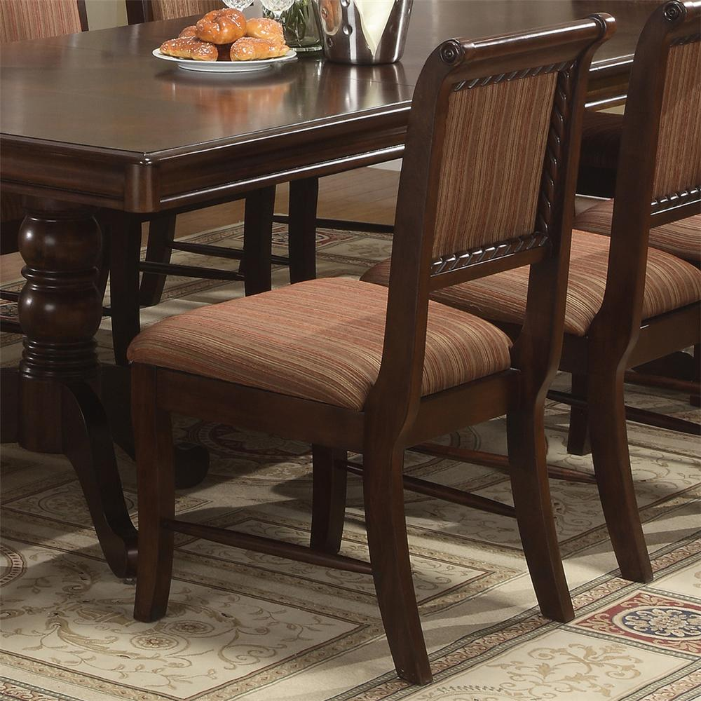 Merlot Dining Side Chair by Crown Mark Furniture at Del Sol Furniture