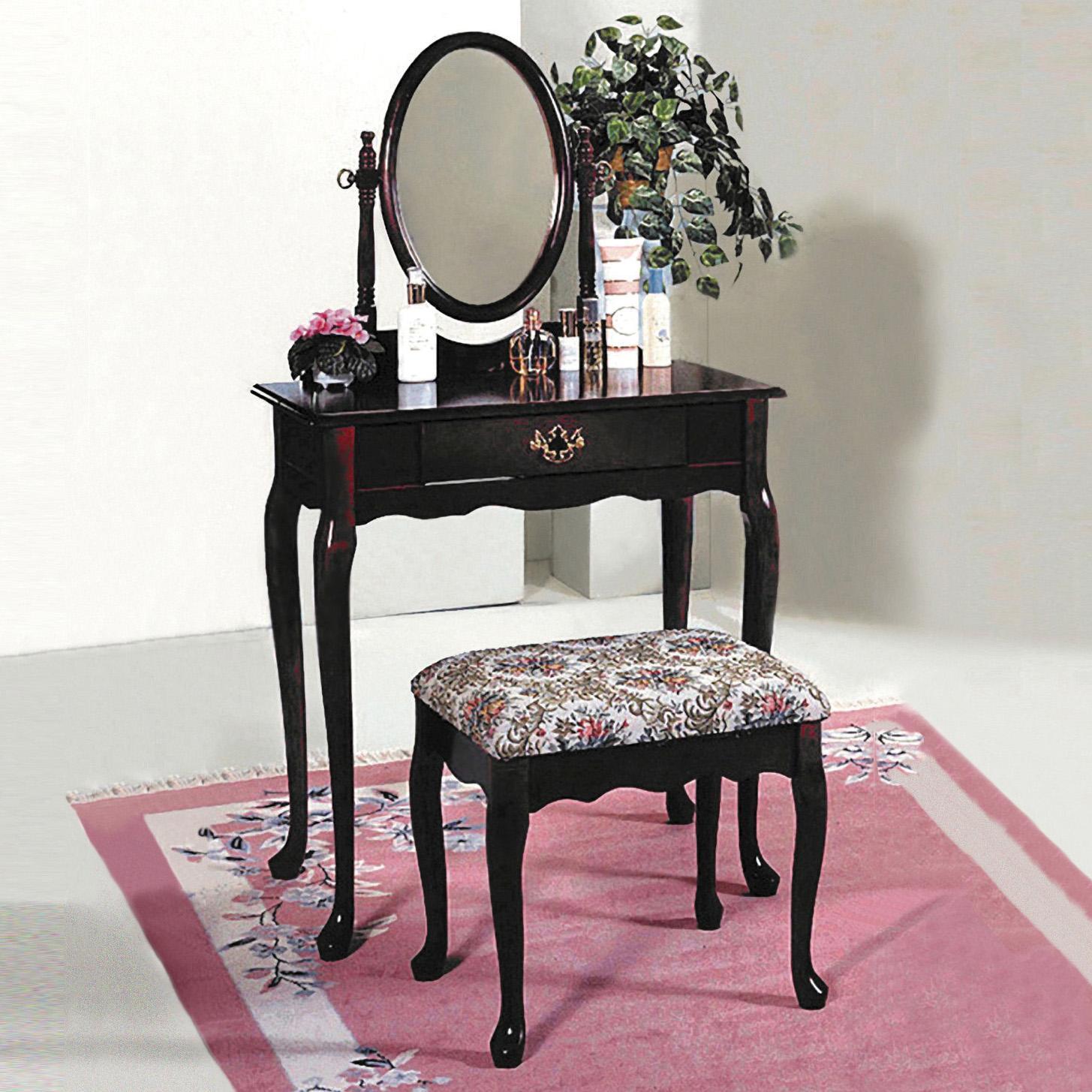 2200 Vanity Table & Stool by Crown Mark at Bullard Furniture