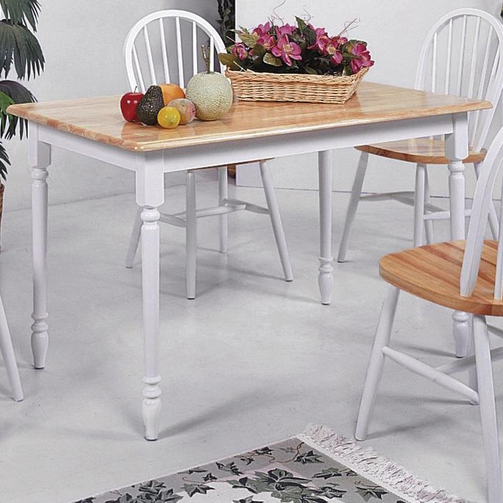 Farmhouse Rectangular Dining Table by Crown Mark at A1 Furniture & Mattress
