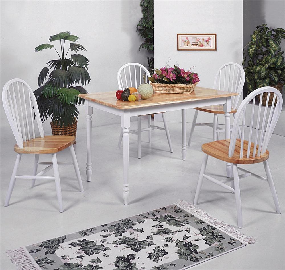 Farmhouse Rectangular Table and Chair Set by Crown Mark at Nassau Furniture and Mattress