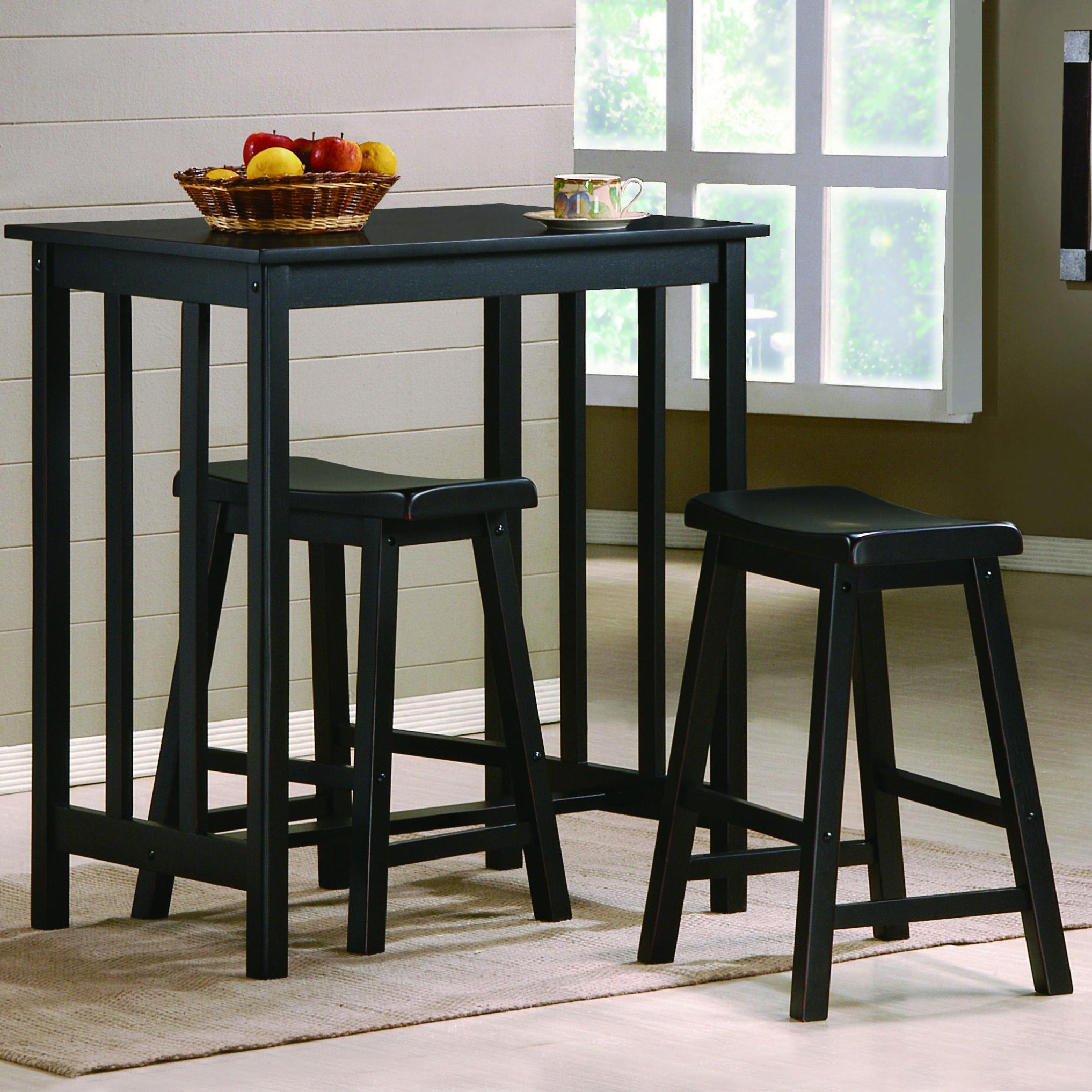 Dina 3 Piece Counter Height Table & Stool Set by Crown Mark at Wilcox Furniture
