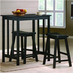 3 Piece Counter Height Table & Stool Set