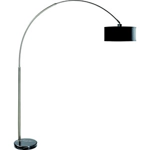 Arched Floor Lamp with Marble Base