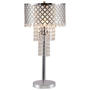 Crystal On Mesh Table Lamp